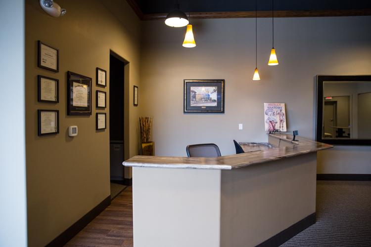 Chiropractic New Berlin WI Receptionist Area